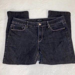 White House Black Market Blanc Crop leg jeans 10